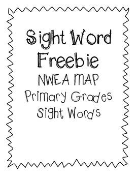 NWEA MAP Sight Word Freebie