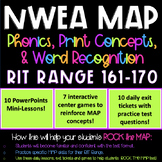 NWEA MAP TEST PREP Print Concepts RIT Range 161-170 Intervention