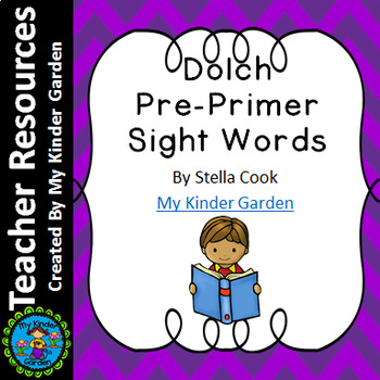 Dolch Pre-Primer High Frequency Words Sight Word PowerPoint