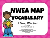 NWEA MAP Test Practice Vocabulary Game (Math RIT 221- 230)