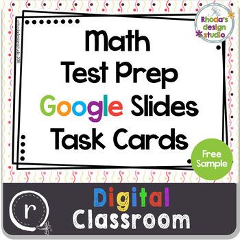 Standardized or State Test Prep Math Task Cards Google Slides Paperless Free