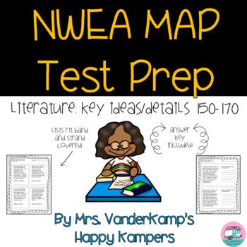 NWEA MAP Test Prep for Literature: Key Ideas/Details 150-170