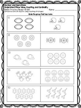 NWEA MAP Test Prep for Number and Operations: Place Value & Counting 140-170