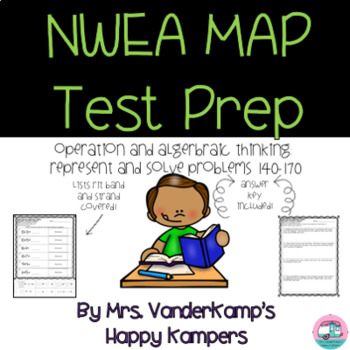 NWEA MAP Test Prep for Operation and Algebraic Thinking: Solve Problems 140-170