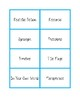NWEA MAP Testing Vocabulary Word Wall Cards LIGHT BLUE RIT 181-210