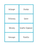 NWEA MAP Testing Vocabulary Word Wall Cards LIGHT BLUE RIT