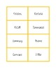 NWEA MAP Testing Vocabulary Word Wall Cards Orange RIT 181-210