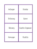 NWEA MAP Testing Vocabulary Word Wall Cards Purple RIT 181-210