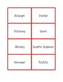 NWEA MAP Testing Vocabulary Word Wall Cards red RIT 181-210
