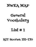 NWEA MAP Vocabulary List 1