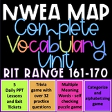 NWEA MAP Test Prep Reading Vocabulary RIT Range 161-170 Complete Test Prep Unit