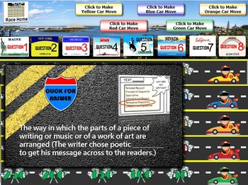 MAP TEST READING VOCABULARY GAME - Road Trip (RIT BANDS 221-260)