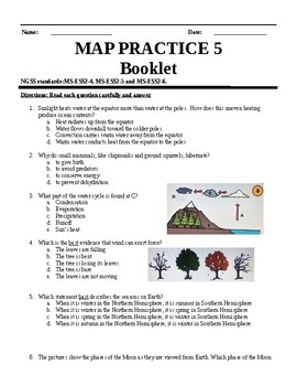 NWEA MAP NGSS 6 - 8 practice science questions 3