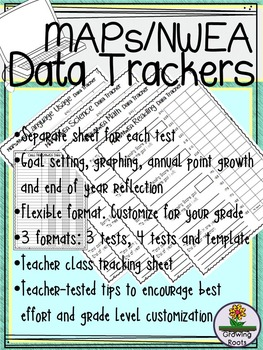 Nwea maps data tracking sheets by growingroots tpt nwea maps data tracking sheets maxwellsz