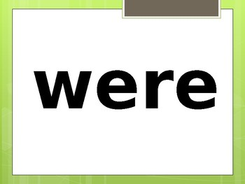 NWEA Map 151-160 Sight Word Power Point (Foundational Skills)