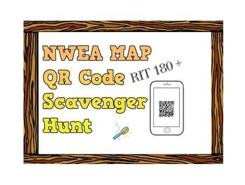 NWEA Map Math QR Code Scavenger Hunt - Number & Operations RIT 170 +