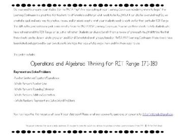 NWEA MAP Primary Math Practice Operations & Algebraic Thinking RIT Range 171-180