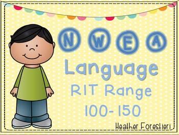 NWEA Map Test Language RIT 100-150