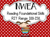 NWEA Map Test Reading Foundational Skills RIT 100-150