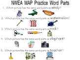 NWEA Map practice for word parts (syllables)