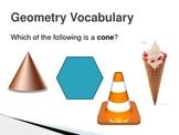NWEA Math Geometry Vocabulary DesCartes Vocabulary Primary