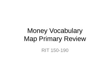 NWEA Math Money DesCartes Vocabulary Primary MAP Review
