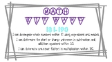 NWEA Practice Cards RIT band 181-190 OA