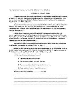 NWEA Practice Quiz Using Historical Documents #2