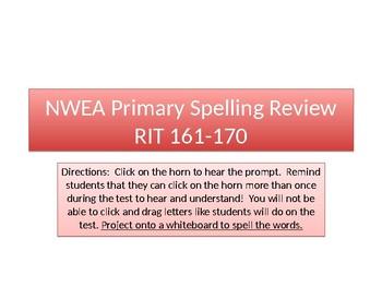 NWEA Primary Reading Spelling RIT 161-170