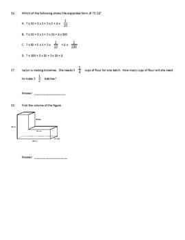 NWEA / RIT 5th Grade Math Practice Test RIT 212 - 221