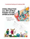 NWEA RIT Group Reading Worksheets DesCartes Practice