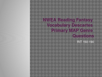 NWEA Reading Fantasy Vocabulary Descartes MAP Primary Review