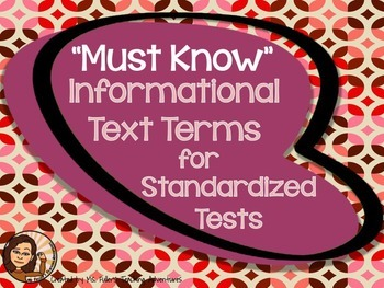 Informational Text  Terms PowerPoint