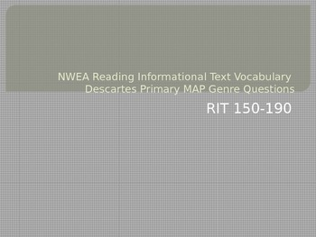 NWEA Reading Informational Text Vocabulary Descartes MAP Primary Review