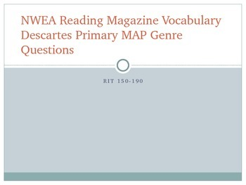 NWEA Reading Magazine Vocabulary Descartes MAP Primary Review