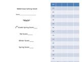 Editable NWEA Reading & Math Goal Sheet