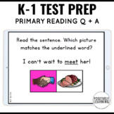 NWEA MAP Testing Practice Primary Reading Question and Ans