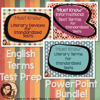 Reading  Vocabulary Power Point Bundle- Test Prep
