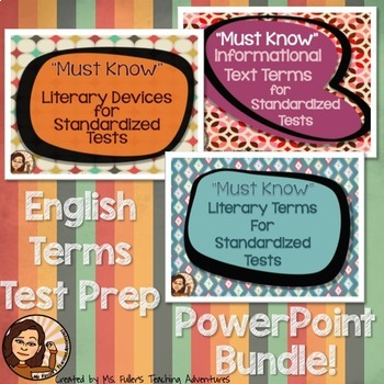 Reading  Vocabulary Power Point Bundle- Test Prep