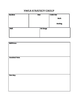 NWEA Strategy Group Lesson Planner