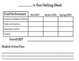 NWEA Student Goal Setting Sheet