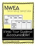 NWEA student score recording sheet