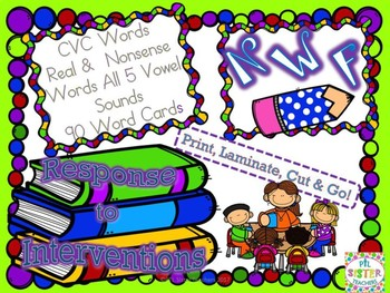 NWF Back to School (Nonsense Word-Response to Intervention) DIBELS Practice