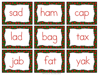 NWF Christmas Game (Nonsense Word-Response to Intervention) DIBELS Practice