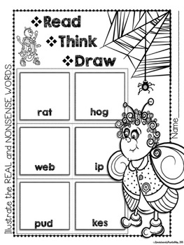 Fly Nonsense Word Fluency RTI Resource