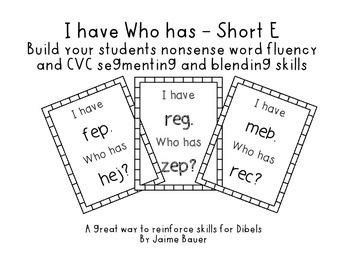 NWF I have Who has Short E