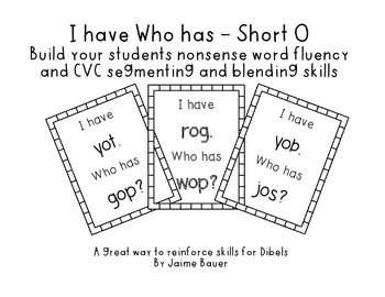 NWF I have Who has Short O