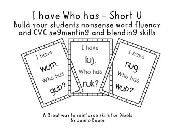 NWF I have Who has Short U