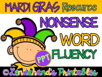Mardi Gras Nonsense Word Fluency Powerpoint