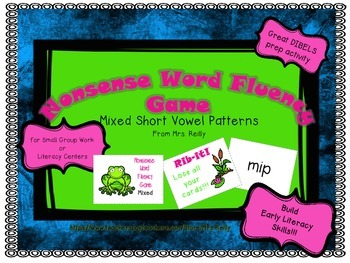 NWF Nonsense Word Fluency_Short Vowel Patterns - Frog Theme